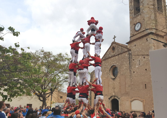 Diada castellera en Valls