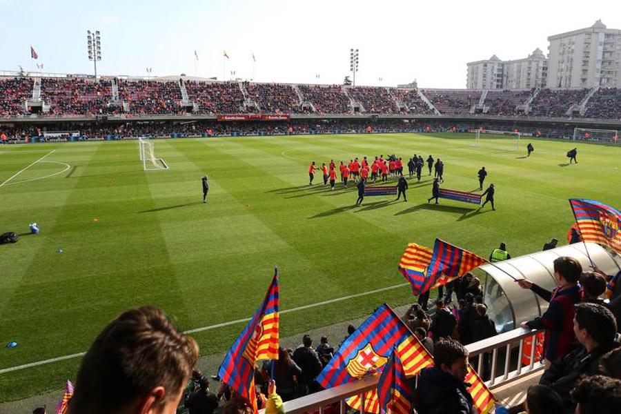 Entrenament de portes obertes del FC Barcelona